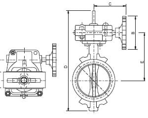 Butterfly Valve with Gear Operator